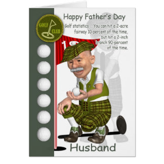 Jouer au golf de carte de voeux de fête des pères
