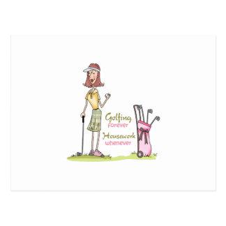 Jouer au golf pour toujours cartes postales