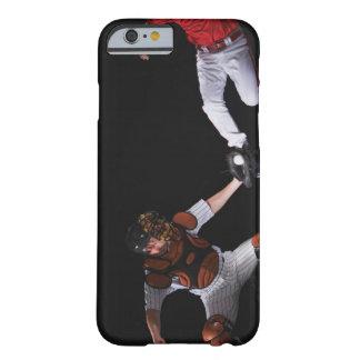 Joueur de baseball glissant dans une base coque iPhone 6 barely there
