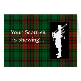 Joueur de cornemuse d'écossais de jour de tartan carte