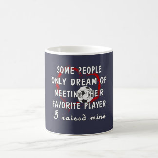 Joueur de favori de maman du football mug blanc