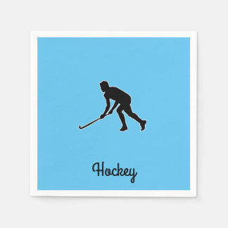 Joueur de hockey d'herbe serviettes en papier