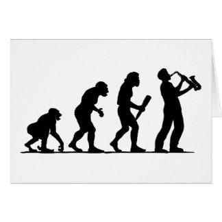 Joueur de saxophone carte