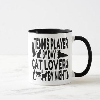 Joueur de tennis d'amoureux des chats mug