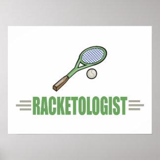 Joueur de tennis humoristique poster