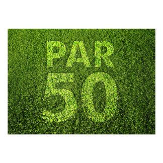 Jouez au golf la cinquantième fête d anniversaire
