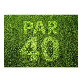 Jouez au golf les quarantième invitations de fête
