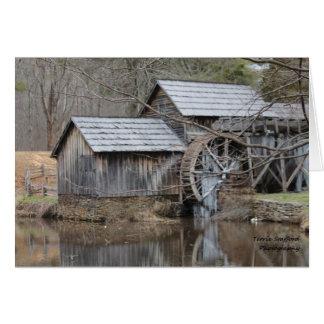 Jour d'automne au moulin dans Blue Ridge Mountains Carte