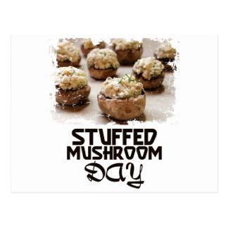 Jour de champignon bourré - jour d'appréciation carte postale