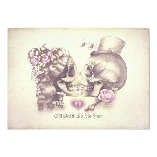 Jour de couples de crâne des invitations mortes de