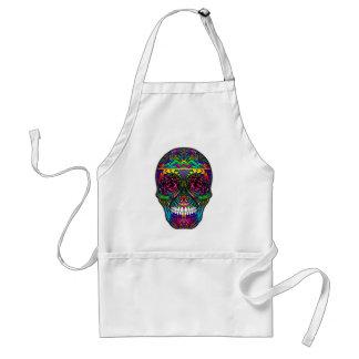 Jour de crâne de sucre de l'art coloré tablier