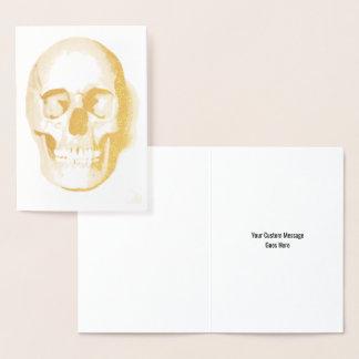 Jour de Halloween de crâne de la carte faite sur