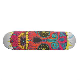 Jour de la conception comique de tatouage de crâne skateboard old school 18,1 cm