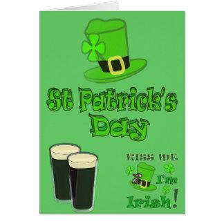 Jour de la Saint Patrick avec le casquette Carte De Vœux