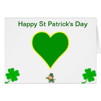 Jour de la Saint Patrick Carte De Vœux