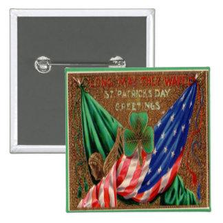 Jour de la Saint Patrick vintage 12 Badge Carré 5 Cm