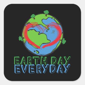 Jour de la terre : Gardez le vert de mère nature Sticker Carré