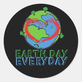 Jour de la terre : Gardez le vert de mère nature Sticker Rond