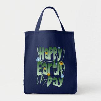 Jour de la terre heureux avec le sac d'oiseaux