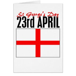 Jour de l'Angleterre, St George Carte