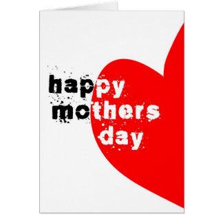Jour de mères heureux carte de vœux