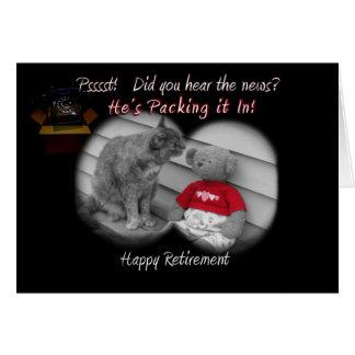 Jour de retraite carte de vœux