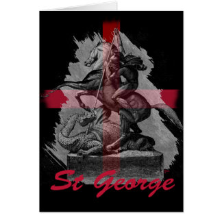 Jour de St Georges Carte De Vœux