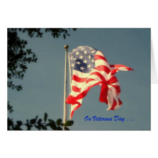 Jour de vétérans, Merci - carte de voeux militaire