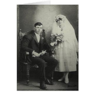 Jour du mariage 1925 carte de vœux