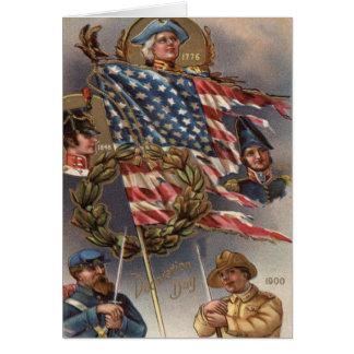 Jour du Souvenir de militaires de guirlande de Carte