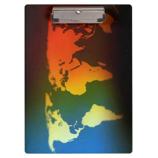 Jour et nuit porte - bloc de carte du monde porte-bloc