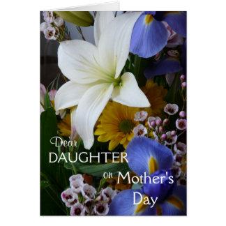 Jour-Fille-Joli floral de la mère heureuse Carte