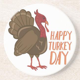 Jour heureux de la Turquie Dessous De Verre En Grès
