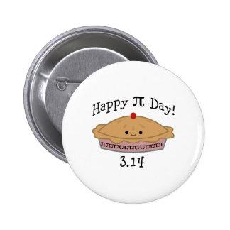 Jour heureux mignon de pi ! badge rond 5 cm
