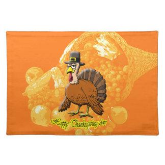 Jour placemat. de bon thanksgiving sets de table