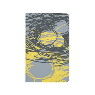 Journal abstrait de nid en jaune gris et lumineux