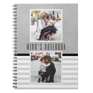 Journal customisé de modèle photo carnets