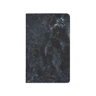 Journal de marbre élégant de poche Noir