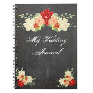 Journal de mariage de tableau de fleur d'orange