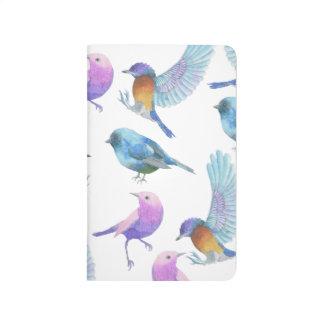 Journal de poche de grille d'amant d'oiseau