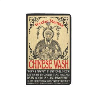 Journal de poche de lavage de Chinois d'université