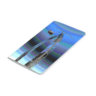Journal de poche de sculpture en ciel bleu d'art