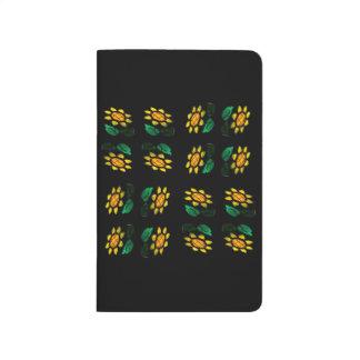 Journal de poche en verre souillé de fleurs