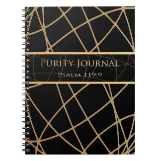 JOURNAL de PURETÉ (noir/abrégé sur or)
