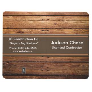 Journal en bois de poche de grain de construction