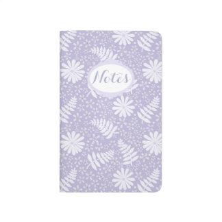 Journal floral de poche de motif de lavande