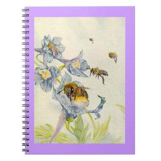 Journal intime d'abeilles d'abeille d'apiculteur