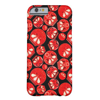 Journal intime rouge de crâne coque iPhone 6 barely there