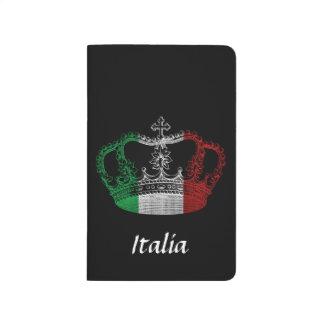 Journal italien de drapeau de couronne