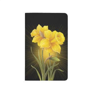 Journal jaune de poche de fleurs